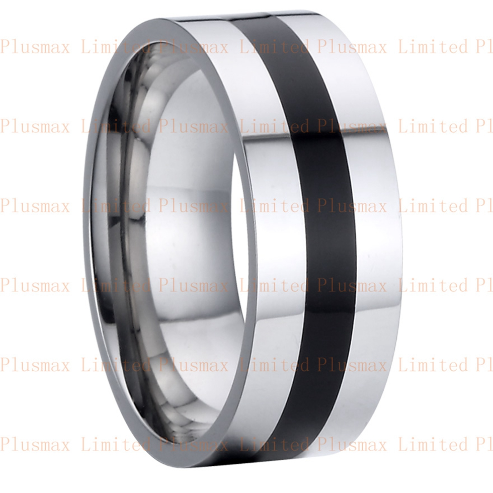 fine jewelry pure titanium steel cool man jewelry mens 8mm wedding band promise ring black onyx rings friendship rings anel in rings from jewelry - Black Onyx Wedding Ring