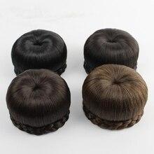 Для женщин Синтетические волосы клип в Одна деталь Шиньон Apple Стиль круглый бутон волосы Шиньон S Бесплатная доставка