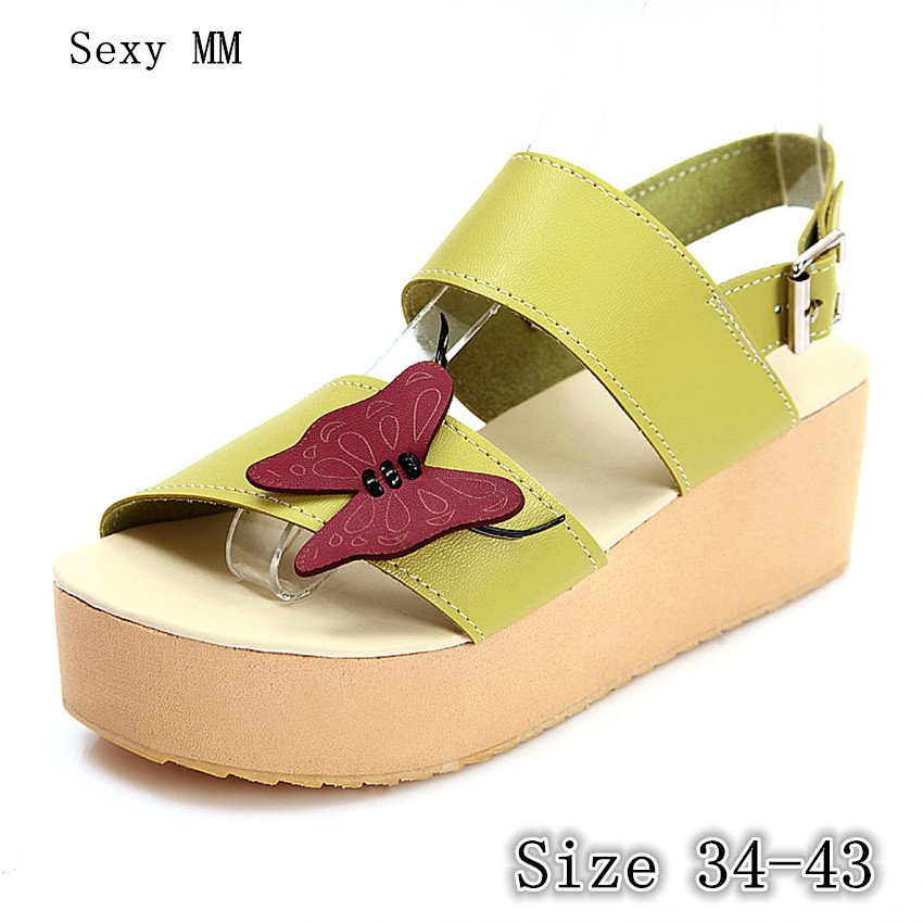 Women Platform High Heel Wedge Sandals Peep Toe Shoes Woman Summer High Heels Wedges Gladiator Sandals Plus Size 34- 40 41 42 43 2017 summer new rivet wedges sandals creepers women high heel platform casual shoes silver women gladiator sandals zapatos mujer