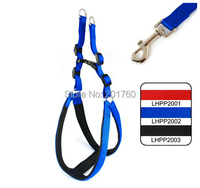 2.0cm Pet supplies Plain Color Padded Harnesses dog Leash (3 Colors)  Free shipping LHPP2001