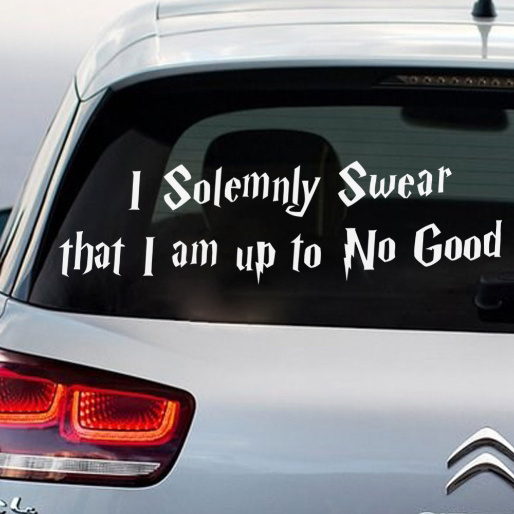 Car sticker vinyl - Funny Car Stickers I Am Up To No Good Limited Edition Waterproof Car Styling Stickers Vinyl