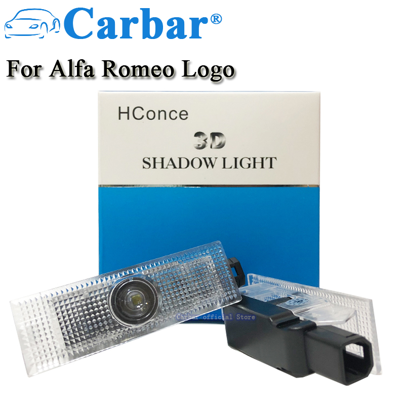 LED Door Courtesy Logo Light For Alfa Romeo 159 147 Car LED Door Courtesy Logo Light Shadow Laser Projector LED Welcome Lights renault logo pattern 2w 100lm 6000k 3 led yellow white car courtesy door decoration lights pair