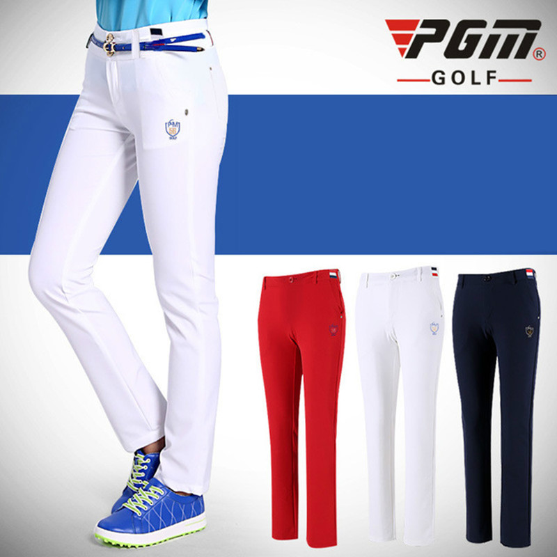 2018 PGM golf Trousers High Elastic Soft Slim Trousers for women Golf Sportswear Lady Breathable Trouser size XS-XL good quality ultra thin lady clothes women pants xs l trousers sportwear female slim pant trouser skinny pencil golf tennis pant