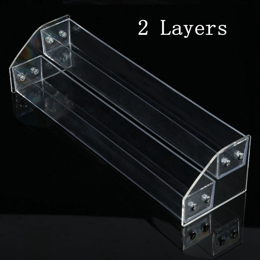 Acrylic Clear Nail Polish Varnish Display Stand 2Tier Rack Holder Jewelry Lipstick Display Organizer Storage Box Nail Art