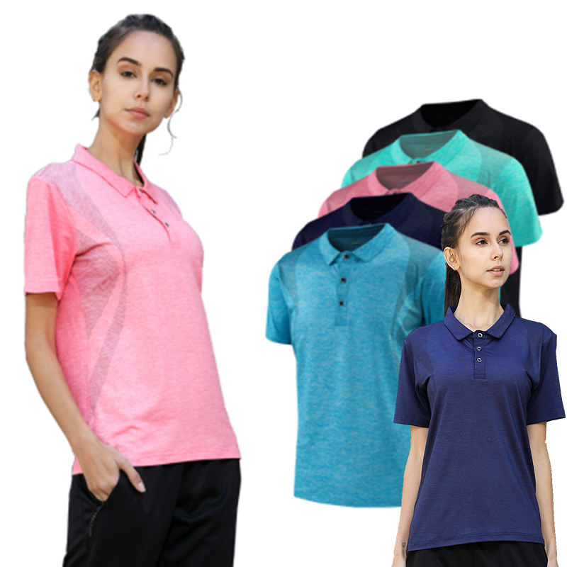 Women Yoga Shirts High Elastic Slim Workout Sports T Shirt Quick Dry Running Gym Fitness Breathable Yoga Sports Golf Polo Tops
