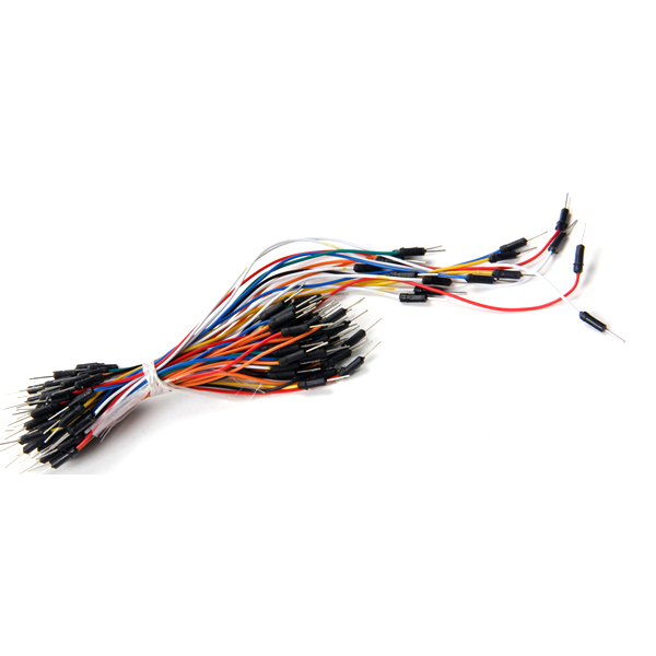 65pcs/lot Jump Wire Cable Male To Male Jumper Wire For Arduino Breadboard Electrical Contacts And Contact Materials