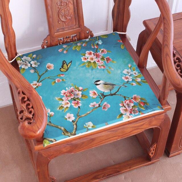 Green Bird Seat Decorative Car Chair Cushions Flowers Throw Chevron Home  Decor Cushion