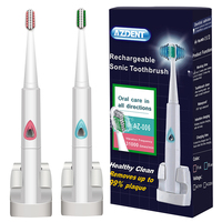 AZDENT Wireless Charge Sonic Electric Toothbrush Automatic Ultrasonic Rechargeable Electric Tooth Brush Teeth Brush 4 Brush