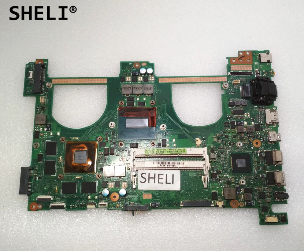 SHELI For ASUS N550JV Motherboard with I5-4200H cpu GT750M video card REV2.0 image