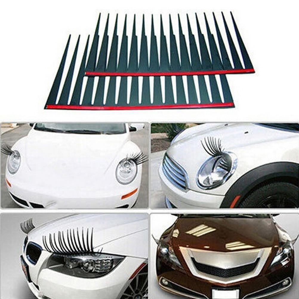 3d car charming black false eyelashes sticker for chrysler pt cruiser sebring 300c srt8 neon aspen crossfire nassau 200 300c in car stickers from