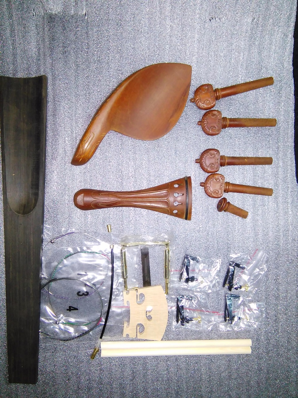 Humorous Quality Carved Jujube Violin Fitting 4/4 With String And Fingerboard Tuner Post Saddle Etc In 4/4 Relieving Heat And Thirst. Stringed Instruments