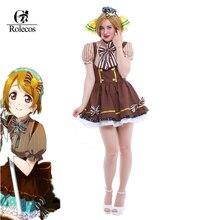 Rolecos Hot Anime amor vivo dulces Maid Cosplay amor vivo Koizumi Hanayo  Cosplay traje Lolita traje de sirvienta 4bb7c6fd2fa8