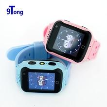 """Nueva Llegada 1.44 """"Pantalla Táctil Niños Del Reloj Del GPS con La Cámara de Iluminación Reloj Teléfono inteligente Llamada SOS GPS Localizador para Niños b5"""