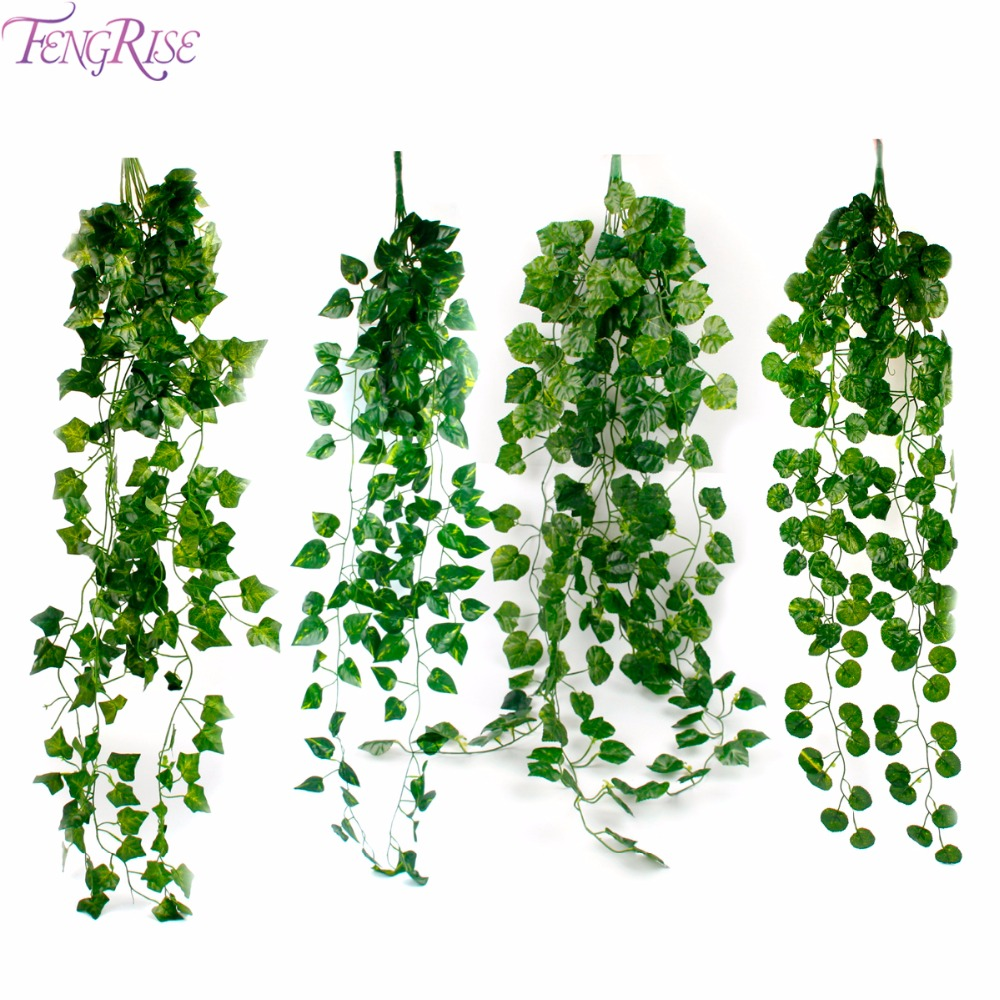 Artificial Decorations Artificial Vine Rattan Fake Leaves Plant For Wedding Garland Home Party Decor