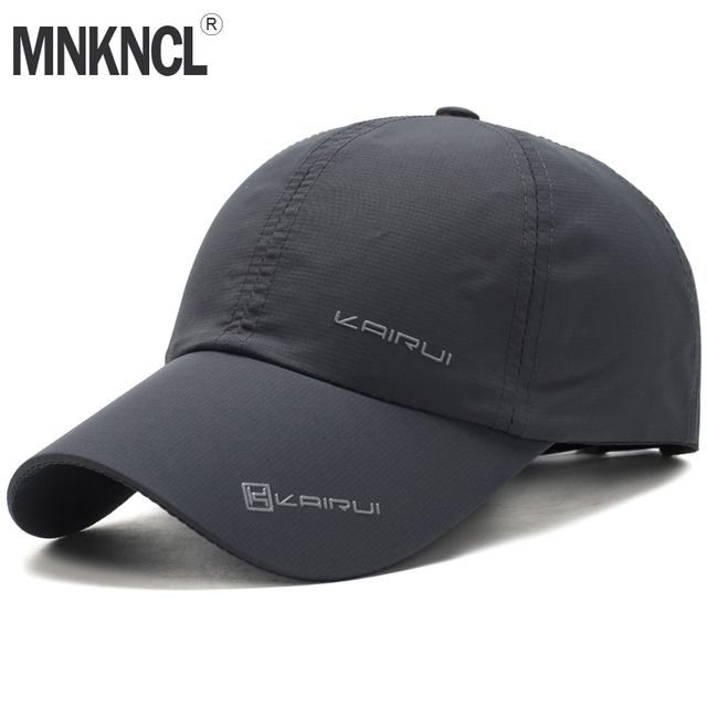 f45cdab7aa7c2 MNKNCL 2018 New Baseball Cap Leisure Sport Cap Summer Quick-drying Sun Hat  Unisex UV Protection Outdoor Cap