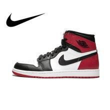 sneakers for cheap 81442 2f93c Authentic Original Nike Men's Basketball Shoes Sneakers Air Jordan 1 OG  Retro Royal AJ1 Breathable Sports