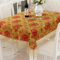 2018 traditional rectangle table covers wedding party decoration floral embroidered table cloth dustproof table runners almofada