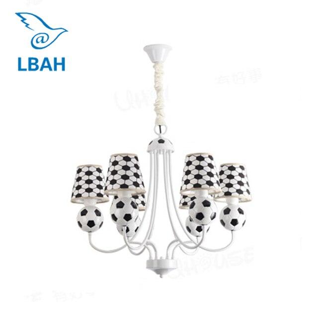 O novo futebol crianças quarto lustre quarto personalidade criativa LEVOU a lâmpada do quarto Do Bebê menino