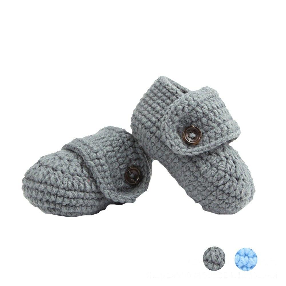 Детская обувь; обувь для девочек Дети Сначала обувь тапочки кроватки крючком Повседневное ручной работы для вязаный носок детская обувь