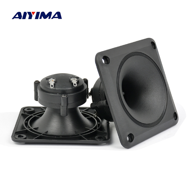 Aiyima Audio Speakers 2PC Piezoelectric Tweeter 87*87MM Loudspeaker Piezo Tweeter Treble Audio Speaker DIY