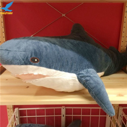 Fancytrader 39\'\' Big Plush Hammerhead Shark Soft Stuffed Lifelike Animal Shark Toy for Kids 100cm Great Gift & Home Decoration (5)