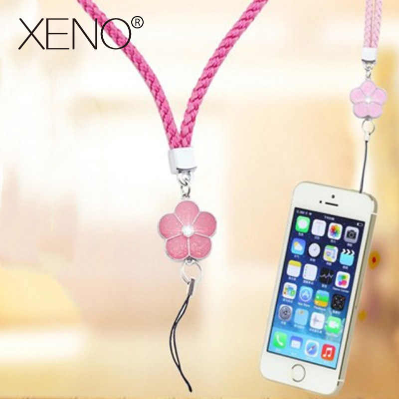 Mobile Phone Straps rope clover flower short hand rope universal squishy for key lanyard neck lanyard neckband anti-stress