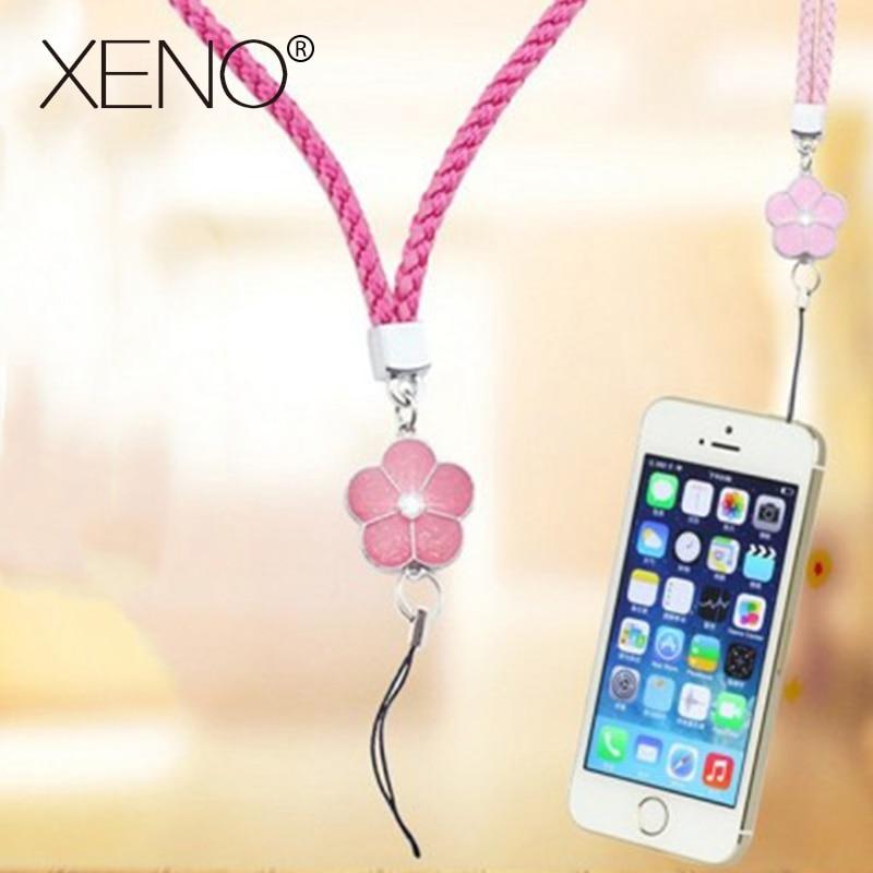 Mobile Phone Straps Rope Clover Flower Short Hand Rope Universal Squishy For Key Lanyard Neck Lanyard Neckband Anti-stress