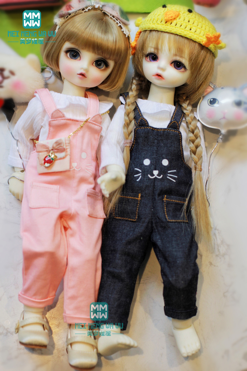 Doll Clothes Fits 27cm-30cm 1/6 BJD Doll Fashion Shirt +Casual Trousers Pink Denim Blue