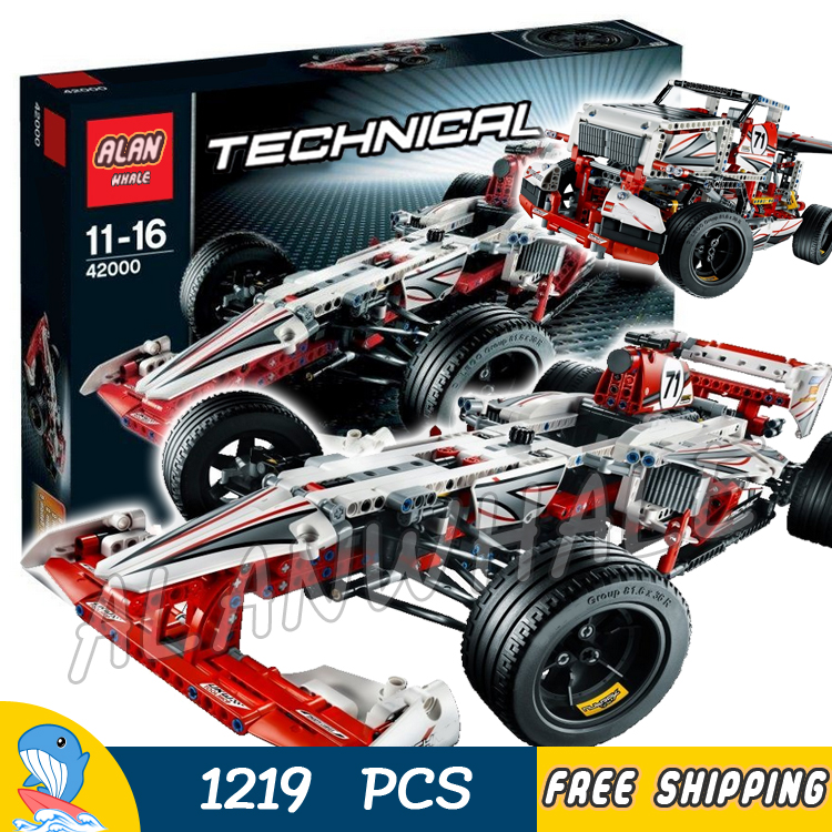 1219pcs Techinic 2in1 New F1 Grand Prix Racer 3366 Race Truck DIY Model Building Kit Blocks Gifts Toys Set Compatible With lego цена