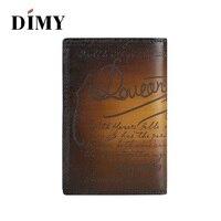 Dimy Genuine Real Leather Passport Cover Case Porte Carte Bancaire Etui Carte Bancaire Credit Card Holder mens wallet #DM4179