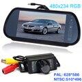 "HD 7\"" <font><b>LCD</b></font> car Mirror Monitor parking sensor DVD/VCD/GPS/TV Screen + E350 waterproof General car rear view Camera Night Vision"