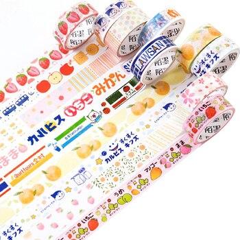 1.5cm*5M Summer Fruits Style Strawberry Orange DIY Decorative Masking Washi Tape