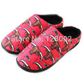 Big Yards Winter Home Bull Print Thermal Thickening Cotton-Padded Warm Slippers For Men Indoor\Floor Slippers