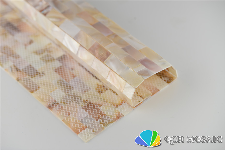 Купить с кэшбэком Freshwater shell mother of pearl mosaic tile for house decoration wall tile natural color 11 square feet/lot strip pattern qch20