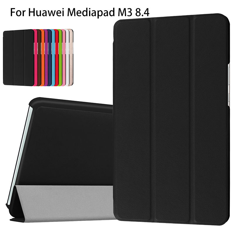 Super Slim PU Leather Case cover For Huawei MediaPad M3 BTV-W09 BTV-DL09 8.4 inch Case Tablet Funda Flip Business Stand Shell silicon pu leather case for huawei mediapad m3 btv w09 btv dl09 8 4 inch smart sleep case cover tablet flip shell funda capa