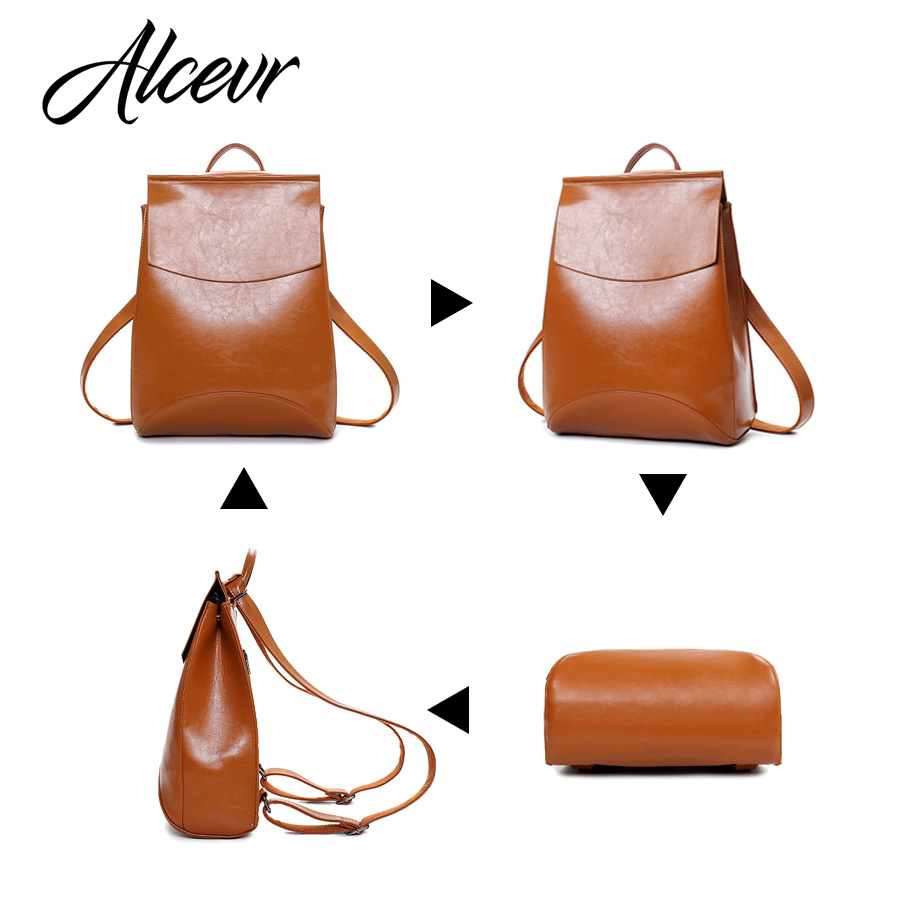 Alcevr Fashion Women Backpack High Quality Youth Leather Backpacks For Teenage Girls Female School Shoulder Bag Bagpack Mochila #3