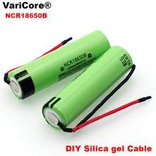 Nouveau Original NCR18650B 3.7 v 3400mAh 18650 Lithium batterie Rechargeable soudage gel de silice câble bricolage batteries