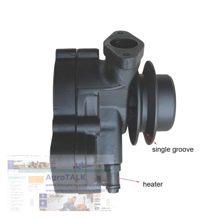 Jiangdong TY295IT, the water pump (with heater pipe) for tractor, part number: jiangdong engine jd495t for tractor like jinma luzhong etc the water pump part number