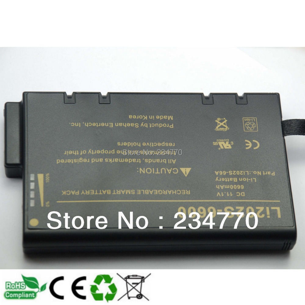 Replacement FOR philips goldway ECG battery LI202S-6600,Li202S-60A Medical  battery