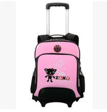 Kid's School trolley Backpack on wheels Kids Trolley Case Kids Rolling Bags For School Children's Trolley Luggage bag on wheels