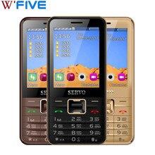 SERVO V8100 2.8 inç 4 SIM kart 4 bekleme telefonu Bluetooth el feneri FM GPRS GSM cep telefonları rusça klavye ile cep telefonu