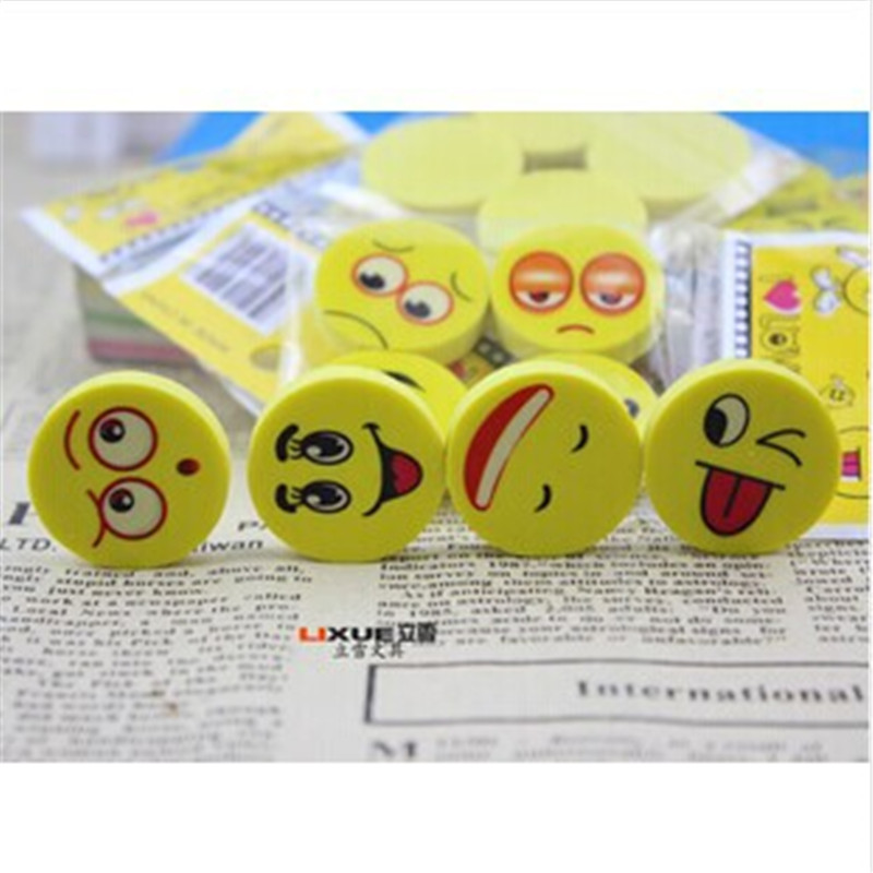 DL D610 Korean Stationery Lovely Creative Laughter Face Eraser School Prizes For Primary School Students Stationery For Office