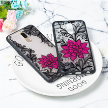 For Huawei Nova 2i Case Silicone Lace Flower Rose Bumper Cover For Huawei Mate 10 Lite Case For Huawei Nova 2i / Mate 10 Lite цена и фото