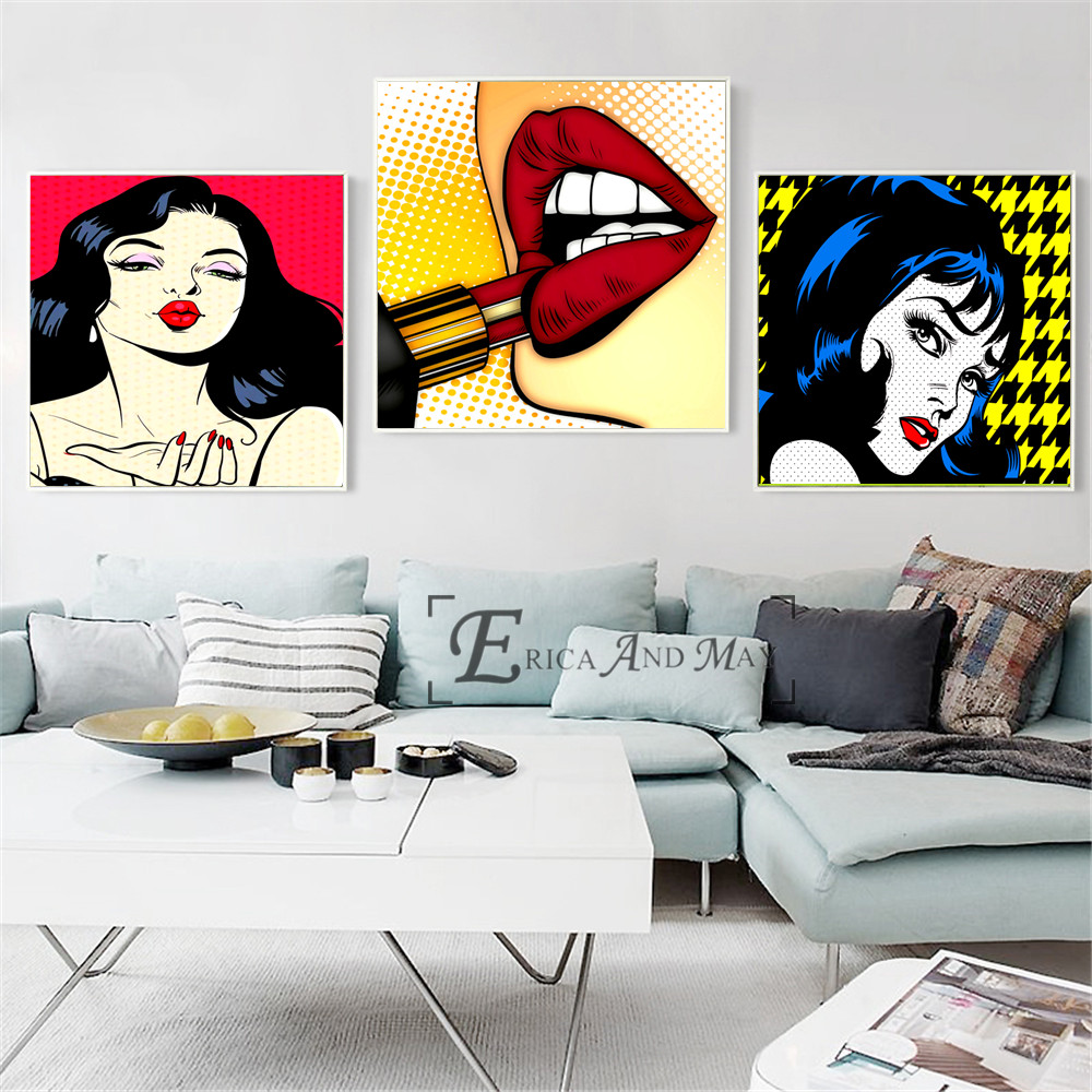 Sexy Women Make Up Pop Art Posters And Prints Wall Art Decorative Picture Canvas Painting For Living Room Home Decor Unframed