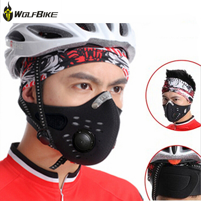 Wolfbike Anti Pollution Running Mask Black Mouth Mask Sports Face Mask Cycling Face Shield Half