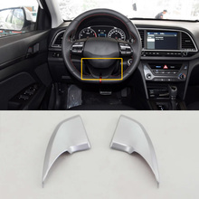 Car Accessories Interior ABS Steering Wheel Cover Decorative Trim For Hyundai Elantra 2018 Car-styling