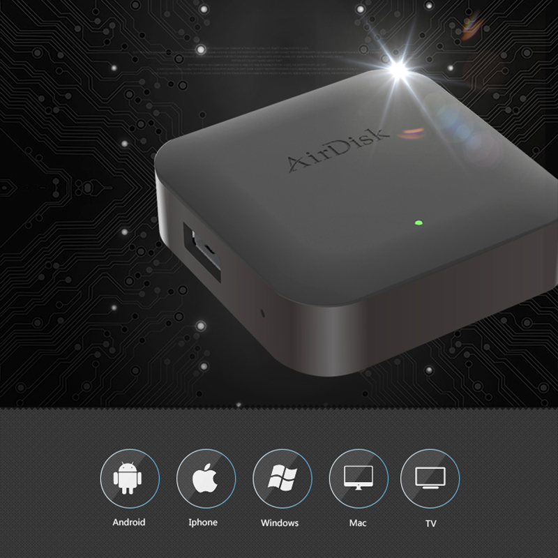 "Image 2 - Airdisk Q1 Mobile network hard disk USB2.0 2.5"" Home Smart Network Cloud Storage Multi person sharing Mobile Hard Disk Box-in Networking Storage from Computer & Office"