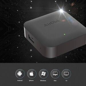 "Image 2 - Airdisk Q1 Mobile network hard disk USB2.0 2.5"" Home Smart Network Cloud Storage Multi person sharing Mobile Hard Disk Box"