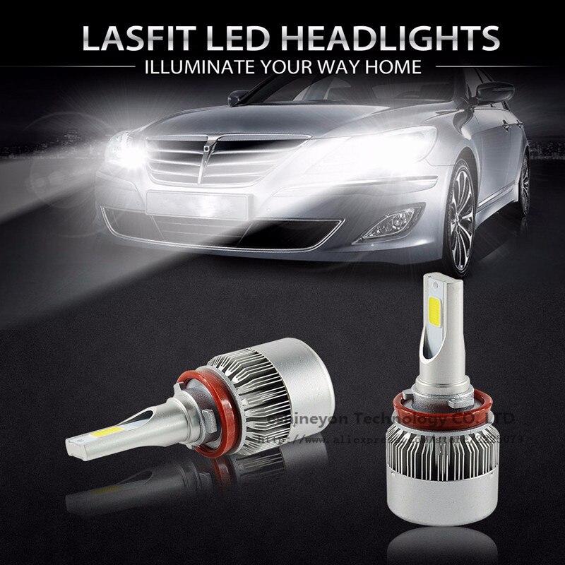 ФОТО 2x55W 9200LM Car Auto COB LED Headlight H1 H3 H4 H7 H8 H9 H11 9004 9005 9007 H13 Single/Hi-Lo Beam Replace Halogen& HID Bulbs