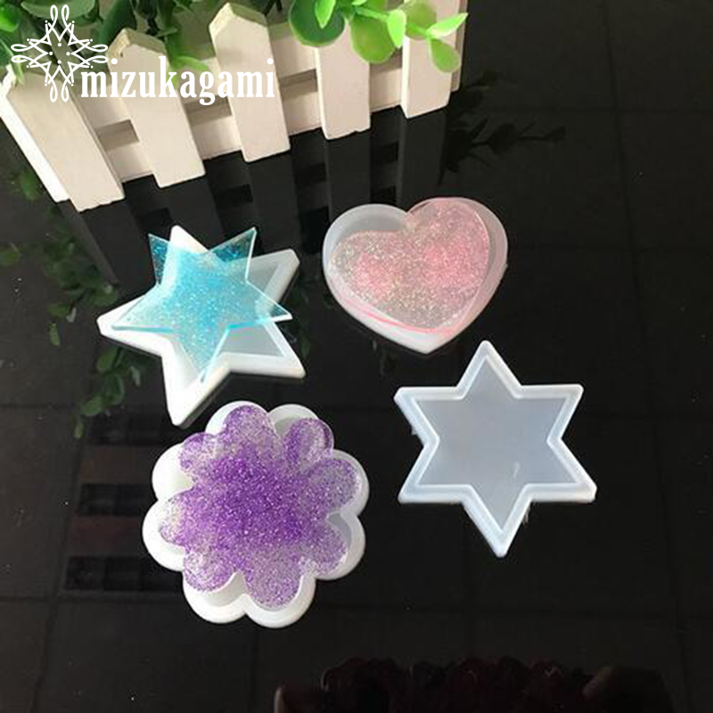 1pcs UV Resin Jewelry Liquid Silicone Mold Star/Flower/Heart Resin Charms Pendant Molds For DIY Intersperse Decorate Making